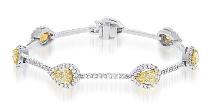 Jewels By Jacob Fancy Yellow & White Diamond Bracelet