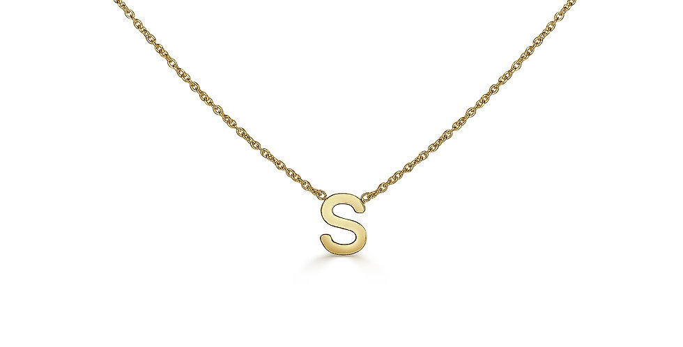 Mini Capital Initial Gold Necklace