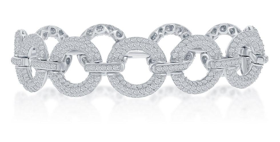 DFJ Pave Diamond Circular Bracelet