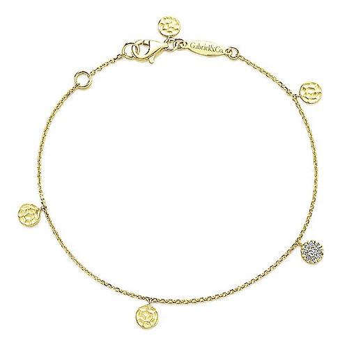 Gabriel & Co.- Round Disc Charm Bracelet