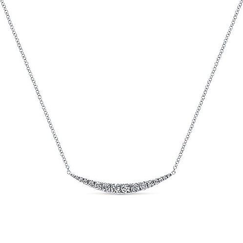 Gabriel & Co. - Curve Diamond Bar Necklace