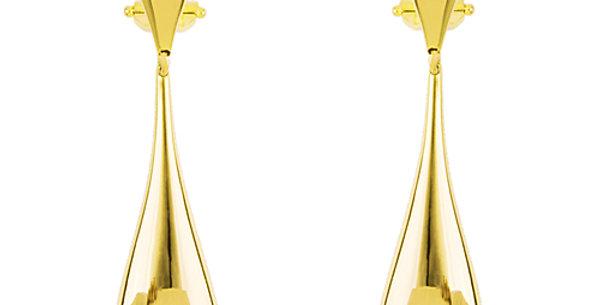 Yellow Gold Drip Earrings