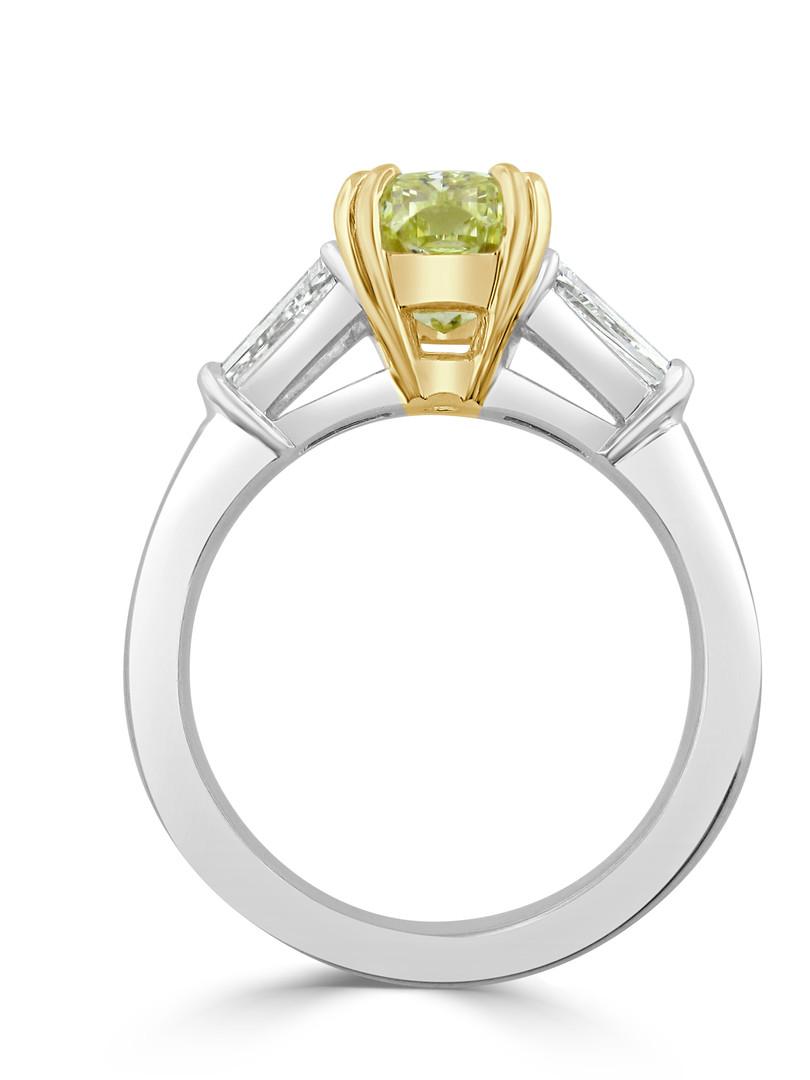 Two Tone Yellow Diamond Engagemetn Ring
