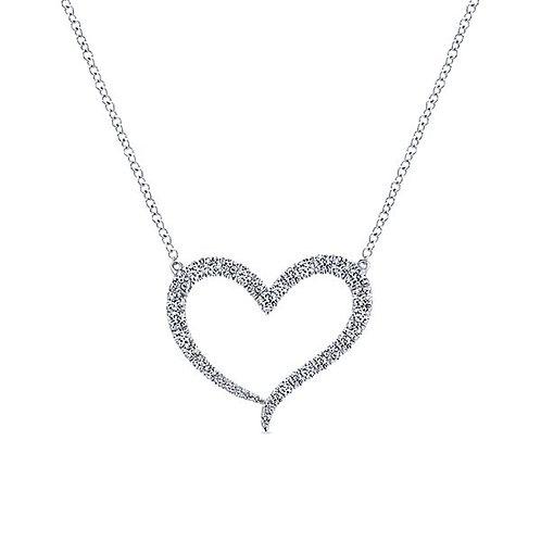 Gabriel & Co. - Eternal Love Diamond Heart Pendant