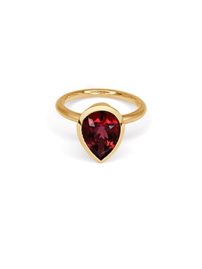Pink Tourmaline Rose Gold Right Hand Rin
