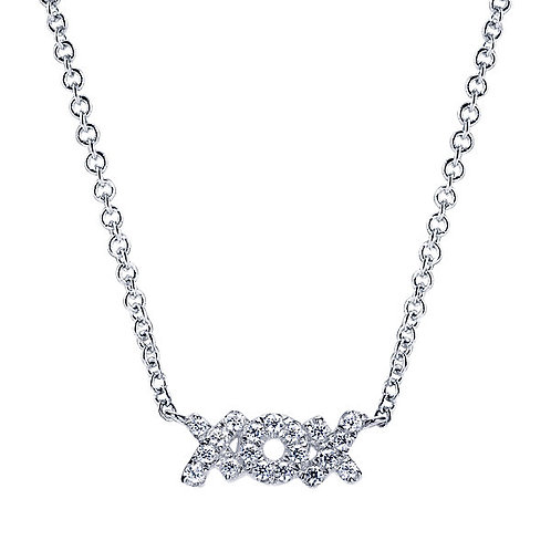 Gabriel & Co. - XOX Diamond Necklace