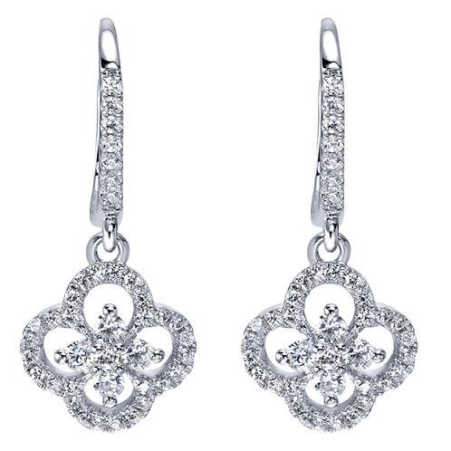 Gabriel & Co.- Clover Diamond Dangle Earrings