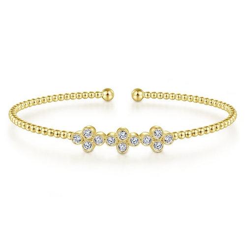 Gabriel & Co - Clover Cuff Bracelet