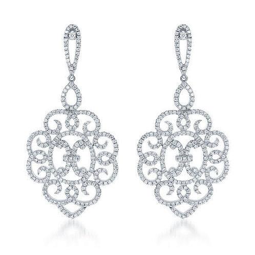 DFJ Chandelier Diamond Earrings