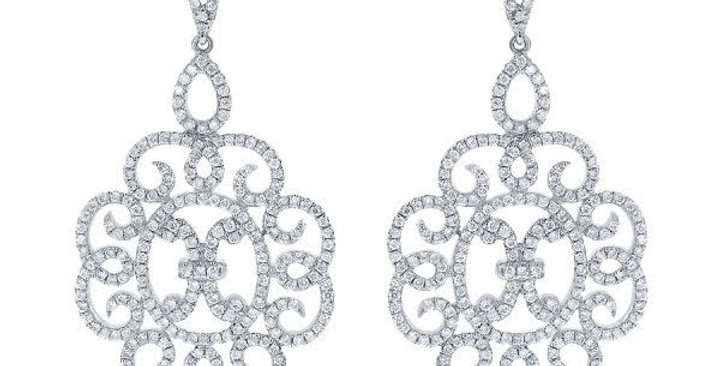 DFJ Chandelier Diamond Earrings