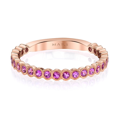 MARS Fine Jewelry - Bezel Set Pink Sapphire Band