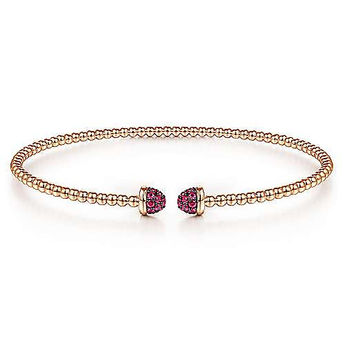 Gabriel & Co.- Pave Ruby Bangle