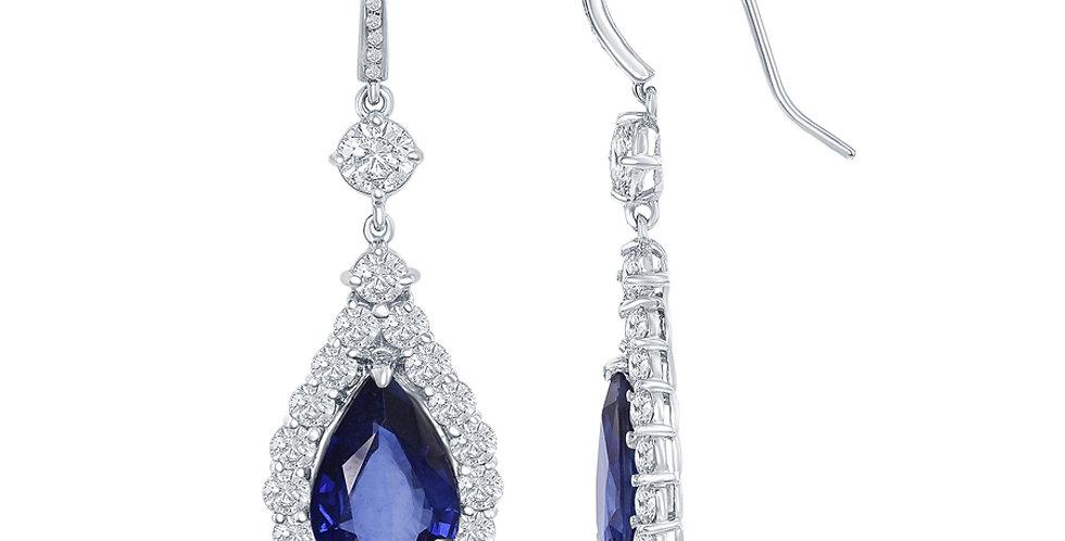 Jewels by Jacob Sapphire & Diamond Earrings