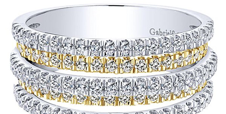 Gabriel & Co. - Over Under Diamond Band