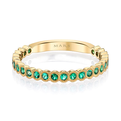 Mars Fine Jewelry - Bezel Set Emerald Band