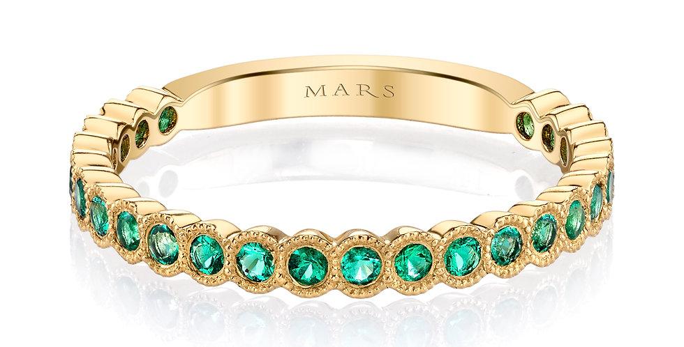 Mars Fine Jewelry - Bezel Set Emerald Band