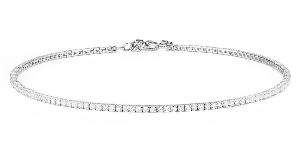 Straight Line Diamond Choker Necklace