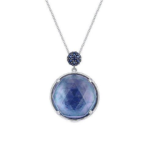 Gabriel & Co. - Blue Lapis Crystal Pendant