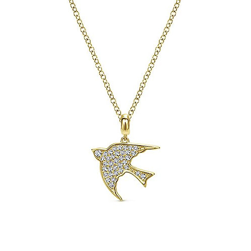 Gabriel & Co. - Dove Diamond Pendant