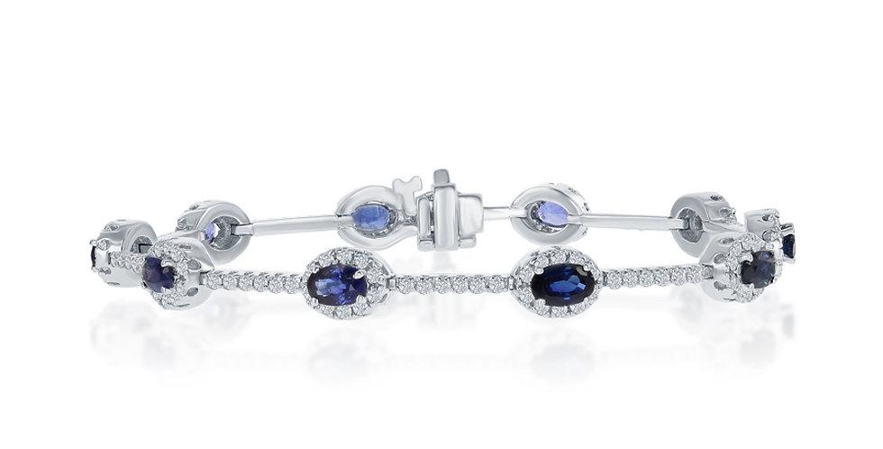 DFJ Oval Sapphire & Diamond Bracelet