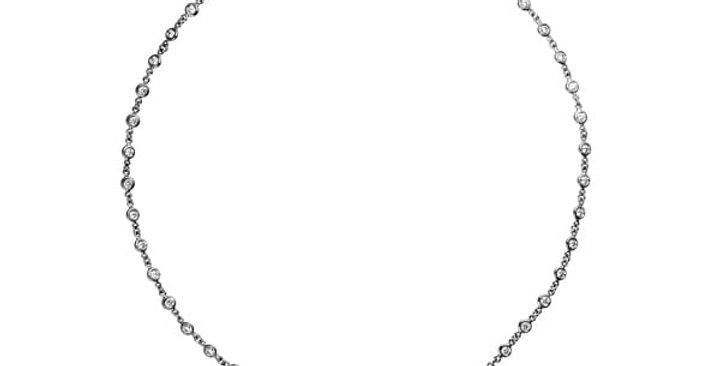 Diamond Bezel Eternity Necklace
