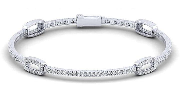 Gabriel & Co.- Open Diamond Tennis Bracelet