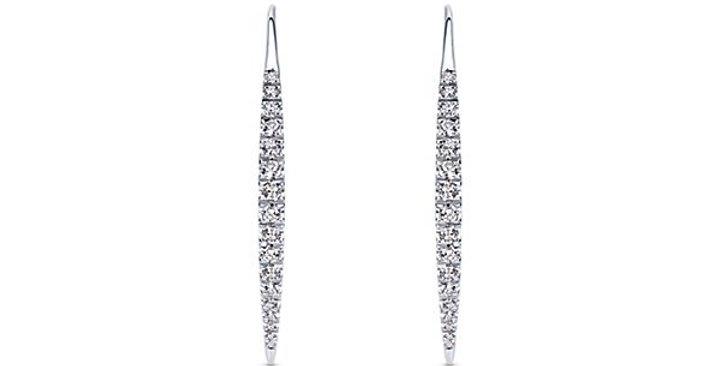 Gabriel & Co.- Straight Diamond Wire Earrings