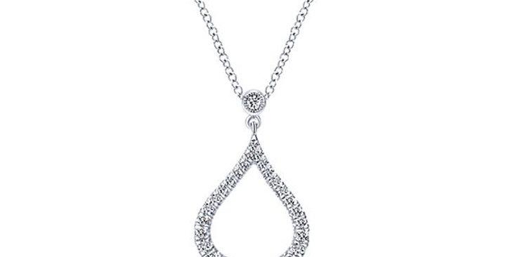 Gabriel & Co. - Tear Drop Diamond Necklace