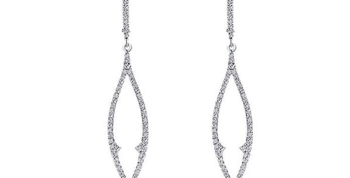 Gabriel & Co.- Tear Drop Diamond Earrings