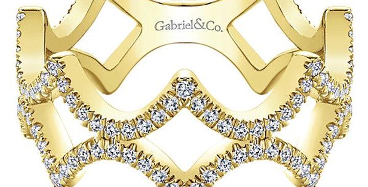 Gabriel & Co. - Crown Diamond Band