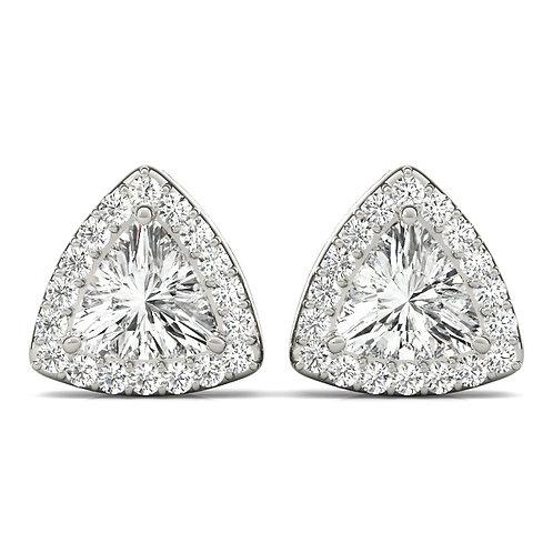 Trillion Diamond Halo Studs