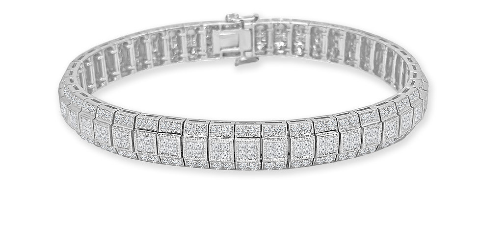 Vintage Inspired Diamond Tennis Bracelet