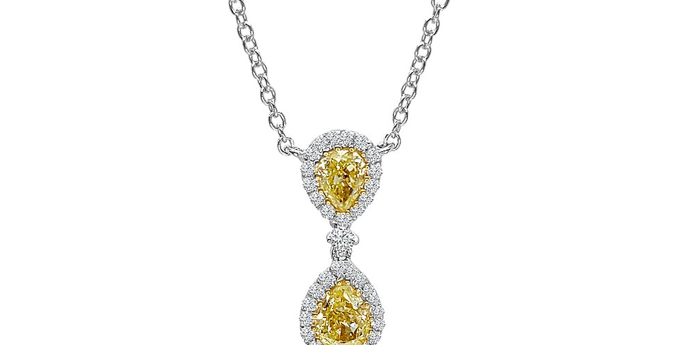 Fancy Yellow Diamond Necklace