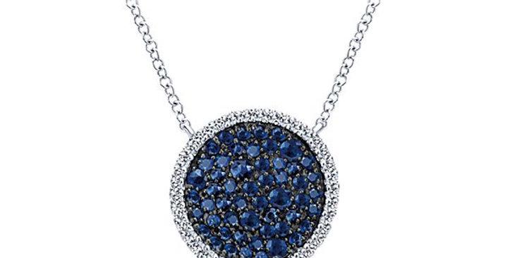 Gabriel & Co. - Sapphire Disc Necklace
