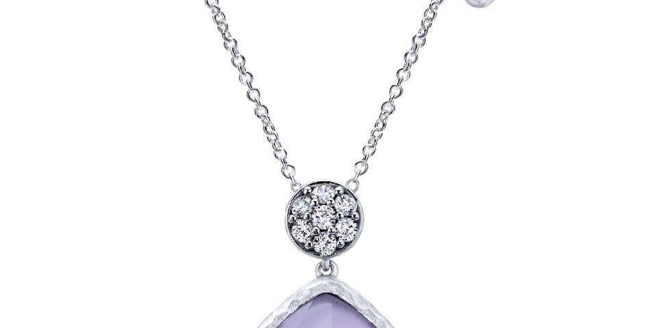 Gabriel & Co.- Purple Jade Necklace