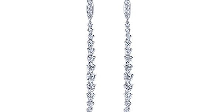Gabriel & Co.- Straight Diamond Dangle Earrings