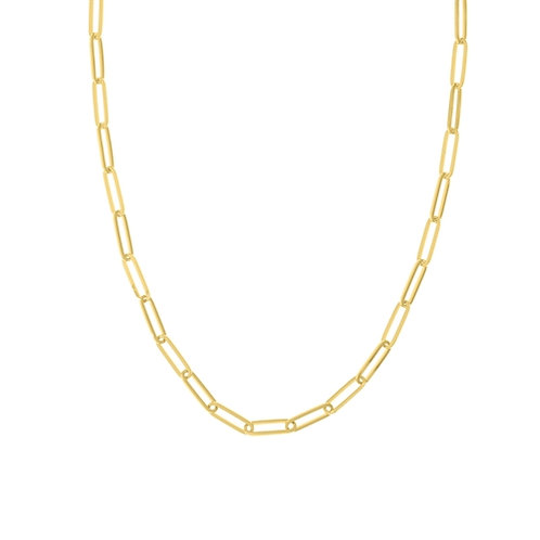 5mm Gold Paper Clip Link Necklace