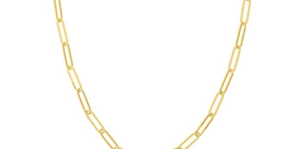 5mm Gold Paper Clip Link Necklace