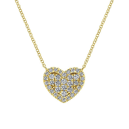 Gabriel & Co. - Pave Diamond Heart Necklace