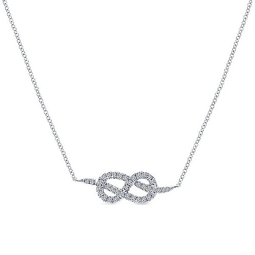 Gabriel & Co. - Love Knot Diamond Necklace