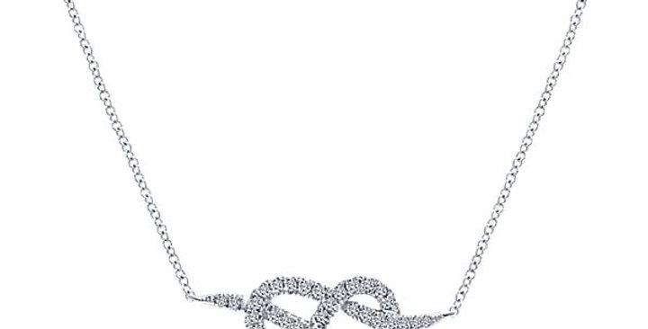 Gabriel & Co. - Love Knot Diamond Necklace