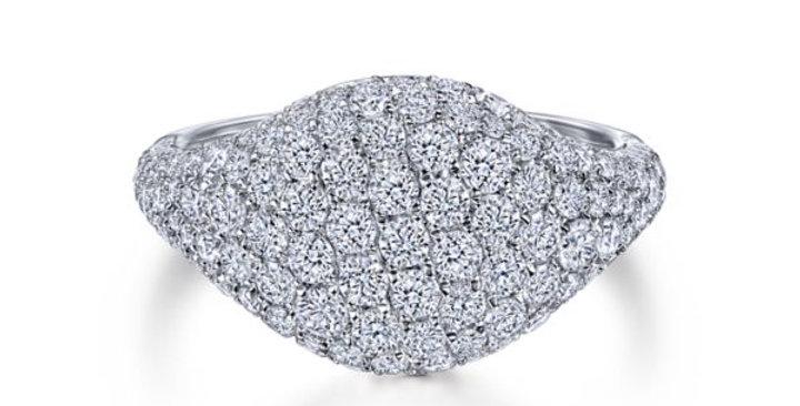 Gabriel & Co - Pave Diamond Signet Ring