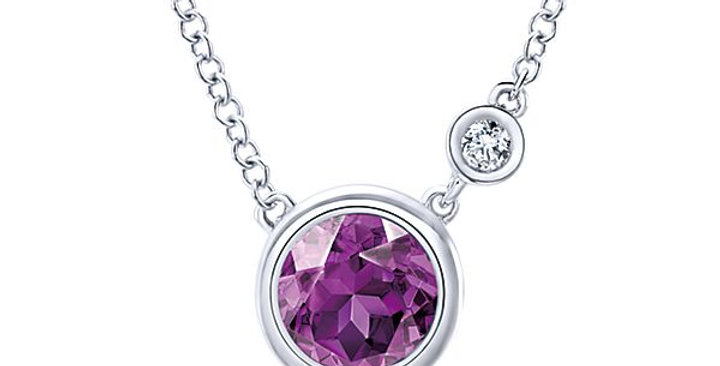 Gabriel & Co. - Bezel Set Birthstone Necklace