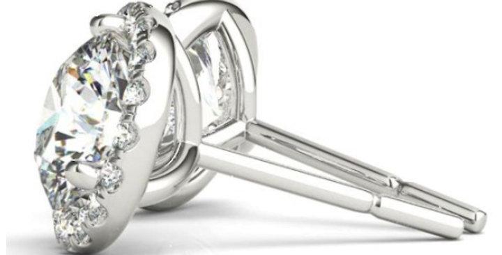 Diamond Halo Margarita Earrings