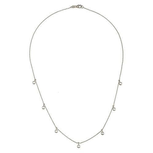 Diamond Dangle Station Necklace