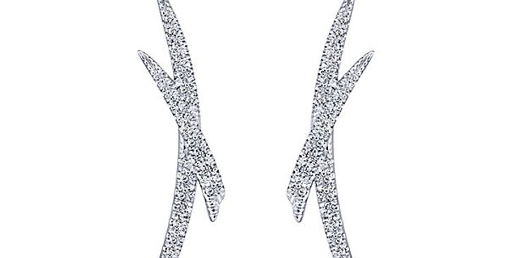 Gabriel & Co.- X Diamond Earrings