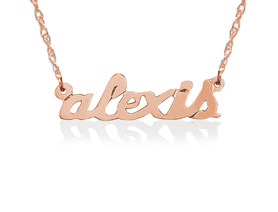 Jane Basch - Petite Lowercase Script Name Necklace
