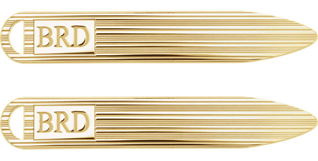 Monogram Textured Collar Stays