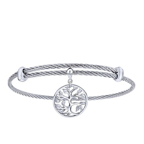 Gabriel & Co.- Tree of Life Charm Cable Bracelet