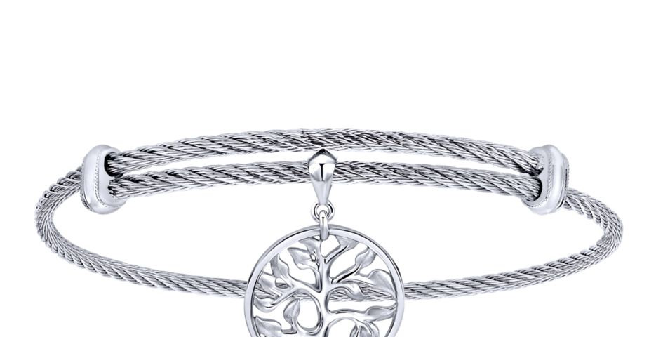 Gabriel & Co.- Tree of Life Charm Cable Bracelet